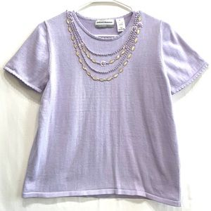 Alfred Dunner Shirt in Purple